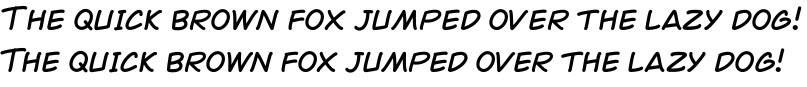 Kerning in the Comicopia font